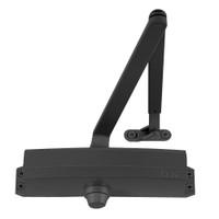 1250-CUSH-BLACK LCN Door Closer with CUSH Arm in Black Finish