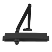 1450-HLONG-BLACK LCN Surface Mount Door Closer with Hold Open Long Arm in Black Finish