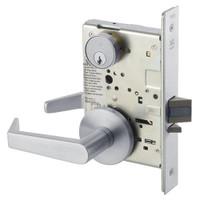 AUR8805FL-626 Yale 8800FL Series Single Cylinder Mortise Storeroom/Closet Locks with Augusta Lever in Satin Chrome