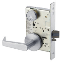 AUR8829FL-626 Yale 8800FL Series Single Cylinder Mortise Closet Locks with Augusta Lever in Satin Chrome