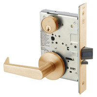 AUR8829FL-612 Yale 8800FL Series Single Cylinder Mortise Closet Locks with Augusta Lever in Satin Bronze