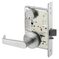 AUR8829FL-618 Yale 8800FL Series Single Cylinder Mortise Closet Locks with Augusta Lever in Bright Nickel
