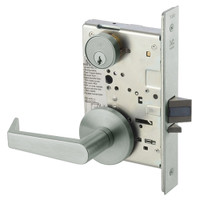 AUR8829FL-619 Yale 8800FL Series Single Cylinder Mortise Closet Locks with Augusta Lever in Satin Nickel