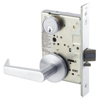AUR8829FL-625 Yale 8800FL Series Single Cylinder Mortise Closet Locks with Augusta Lever in Bright Chrome