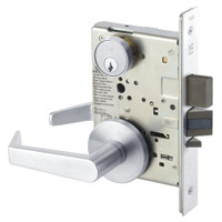 AUR8860-2FL-625 Yale 8800FL Series Double Cylinder with Deadbolt Mortise Entrance or Storeroom Lock with Indicator with Augusta Lever in Bright Chrome