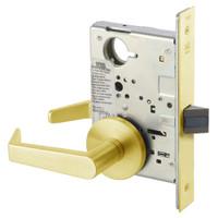 AUR8801FL-605 Yale 8800FL Series Non-Keyed Mortise Passage Locks with Augusta Lever in Bright Brass