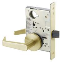 AUR8801FL-606 Yale 8800FL Series Non-Keyed Mortise Passage Locks with Augusta Lever in Satin Brass