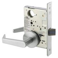 AUR8801FL-618 Yale 8800FL Series Non-Keyed Mortise Passage Locks with Augusta Lever in Bright Nickel