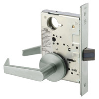 AUR8801FL-619 Yale 8800FL Series Non-Keyed Mortise Passage Locks with Augusta Lever in Satin Nickel