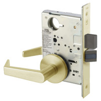 AUR8802FL-606 Yale 8800FL Series Non-Keyed Mortise Privacy Locks with Augusta Lever in Satin Brass