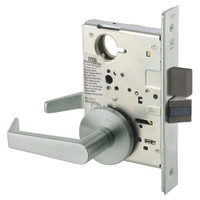 AUR8802FL-619 Yale 8800FL Series Non-Keyed Mortise Privacy Locks with Augusta Lever in Satin Nickel