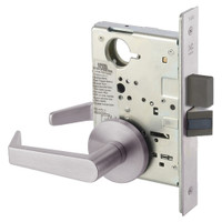AUR8802FL-630 Yale 8800FL Series Non-Keyed Mortise Privacy Locks with Augusta Lever in Satin Stainless Steel