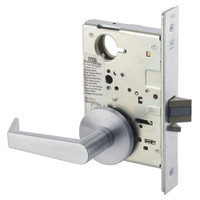 AUR8828FL-626 Yale 8800FL Series Non-Keyed Mortise Exit Locks with Augusta Lever in Satin Chrome