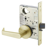 AUR8828FL-606 Yale 8800FL Series Non-Keyed Mortise Exit Locks with Augusta Lever in Satin Brass