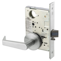 AUR8828FL-618 Yale 8800FL Series Non-Keyed Mortise Exit Locks with Augusta Lever in Bright Nickel