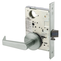 AUR8828FL-619 Yale 8800FL Series Non-Keyed Mortise Exit Locks with Augusta Lever in Satin Nickel