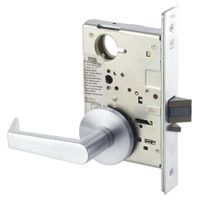 AUR8828FL-625 Yale 8800FL Series Non-Keyed Mortise Exit Locks with Augusta Lever in Bright Chrome