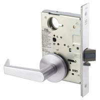 AUR8828FL-629 Yale 8800FL Series Non-Keyed Mortise Exit Locks with Augusta Lever in Bright Stainless Steel