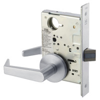 AUR8862FL-626 Yale 8800FL Series Non-Keyed Mortise Bathroom Locks with Augusta Lever in Satin Chrome