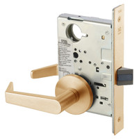 AUR8862FL-612 Yale 8800FL Series Non-Keyed Mortise Bathroom Locks with Augusta Lever in Satin Bronze