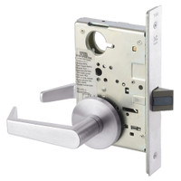 AUR8862FL-629 Yale 8800FL Series Non-Keyed Mortise Bathroom Locks with Augusta Lever in Bright Stainless Steel