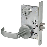 PBR8829FL-619 Yale 8800FL Series Single Cylinder Mortise Closet Locks with Pacific Beach Lever in Satin Nickel