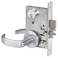PBR8811-2FL-626 Yale 8800FL Series Double Cylinder Mortise Classroom Deadbolt Locks with Pacific Beach Lever in Satin Chrome