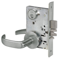 PBR8811-2FL-619 Yale 8800FL Series Double Cylinder Mortise Classroom Deadbolt Locks with Pacific Beach Lever in Satin Nickel