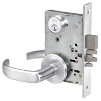 PBR8811-2FL-625 Yale 8800FL Series Double Cylinder Mortise Classroom Deadbolt Locks with Pacific Beach Lever in Bright Chrome
