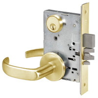 PBR8812-2FL-605 Yale 8800FL Series Double Cylinder Mortise Classroom Security Deadbolt Locks with Pacific Beach Lever in Bright Brass