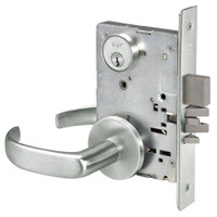 PBR8812-2FL-618 Yale 8800FL Series Double Cylinder Mortise Classroom Security Deadbolt Locks with Pacific Beach Lever in Bright Nickel