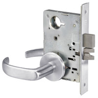 PBR8802FL-626 Yale 8800FL Series Non-Keyed Mortise Privacy Locks with Pacific Beach Lever in Satin Chrome