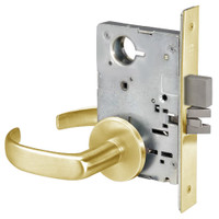 PBR8802FL-605 Yale 8800FL Series Non-Keyed Mortise Privacy Locks with Pacific Beach Lever in Bright Brass