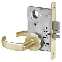 PBR8802FL-606 Yale 8800FL Series Non-Keyed Mortise Privacy Locks with Pacific Beach Lever in Satin Brass