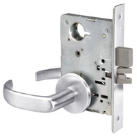 PBR8802FL-625 Yale 8800FL Series Non-Keyed Mortise Privacy Locks with Pacific Beach Lever in Bright Chrome