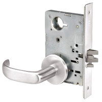 PBR8828FL-629 Yale 8800FL Series Non-Keyed Mortise Exit Locks with Pacific Beach Lever in Bright Stainless Steel