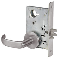 PBR8828FL-630 Yale 8800FL Series Non-Keyed Mortise Exit Locks with Pacific Beach Lever in Satin Stainless Steel