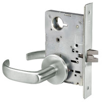 PBR8862FL-618 Yale 8800FL Series Non-Keyed Mortise Bathroom Locks with Pacific Beach Lever in Bright Nickel