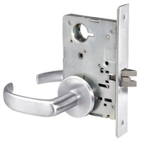 PBR8862FL-625 Yale 8800FL Series Non-Keyed Mortise Bathroom Locks with Pacific Beach Lever in Bright Chrome