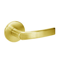 MOR8807FL-605 Yale 8800FL Series Single Cylinder Mortise Entrance Locks with Monroe Lever in Bright Brass