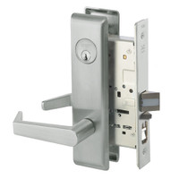 AUCN8807FL-619 Yale 8800FL Series Single Cylinder Mortise Entrance Locks with Augusta Lever in Satin Nickel