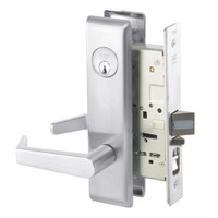 AUCN8807FL-625 Yale 8800FL Series Single Cylinder Mortise Entrance Locks with Augusta Lever in Bright Chrome