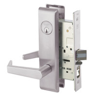 AUCN8807FL-630 Yale 8800FL Series Single Cylinder Mortise Entrance Locks with Augusta Lever in Satin Stainless Steel