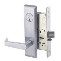 AUCN8829FL-626 Yale 8800FL Series Single Cylinder Mortise Closet Locks with Augusta Lever in Satin Chrome