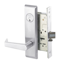 AUCN8829FL-625 Yale 8800FL Series Single Cylinder Mortise Closet Locks with Augusta Lever in Bright Chrome