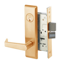 AUCN8823FL-612 Yale 8800FL Series Single Cylinder with Deadbolt Mortise Storeroom Lock with Indicator with Augusta Lever in Satin Bronze