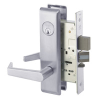 AUCN8812-2FL-626 Yale 8800FL Series Double Cylinder Mortise Classroom Security Deadbolt Locks with Augusta Lever in Satin Chrome