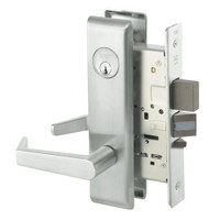 AUCN8812-2FL-618 Yale 8800FL Series Double Cylinder Mortise Classroom Security Deadbolt Locks with Augusta Lever in Bright Nickel