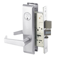 AUCN8812-2FL-625 Yale 8800FL Series Double Cylinder Mortise Classroom Security Deadbolt Locks with Augusta Lever in Bright Chrome