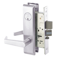 AUCN8812-2FL-629 Yale 8800FL Series Double Cylinder Mortise Classroom Security Deadbolt Locks with Augusta Lever in Bright Stainless Steel